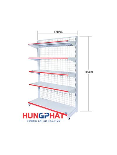 Kệ siêu thị đơn lưới 120cm x 180cm