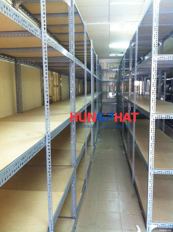 Kệ kho hàng sàn gỗ D1200 x S500 x C2000 x 5 sàn1