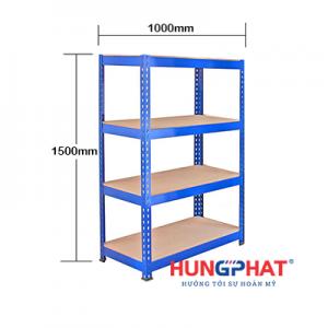 Kệ kho hàng sàn gỗ D1000 x S400 x C1500mm x 4 sàn