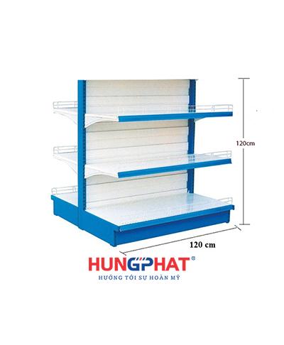 Kệ siêu thị đôi tôn liền 120cm x 120cm