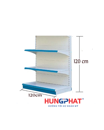 Kệ siêu thị đơn tôn liền 120cm x120cm