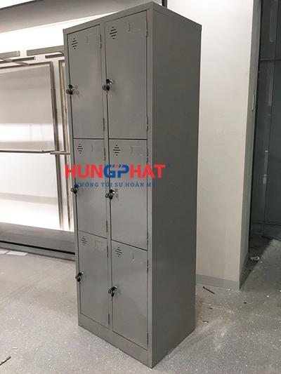 tủ sắt locker 6 ngăn 2 cột