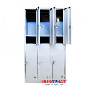 Tủ sắt locker 6 ngăn 3 cột