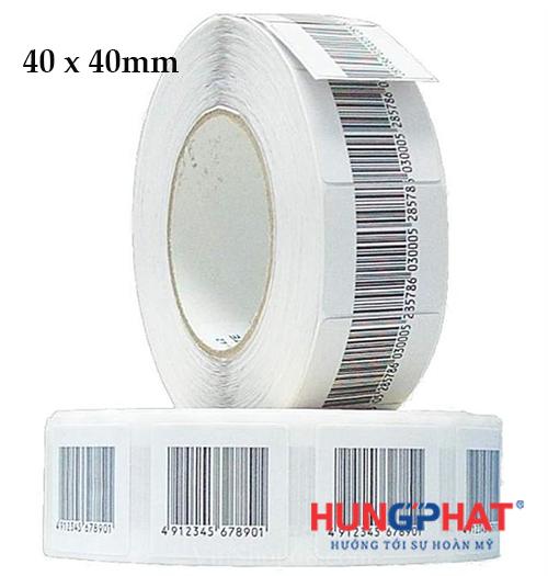 tem từ mềm có mã vạch 40x40 mm