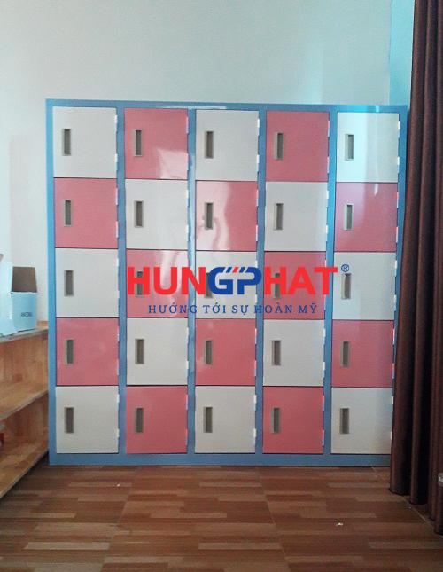 Tủ mầm non 25 ngăn phân phối tại trường mầm non quốc tế Wonderland 7
