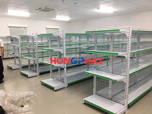 Lắp đặt giá kệ siêu thị tại KCN Thăng Long II, Phố Nối, Hưng Yên