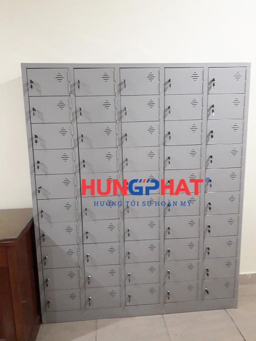 Tủ locker 50 ngăn để điện thoại tại 1B Nguyễn Tri Phương 2