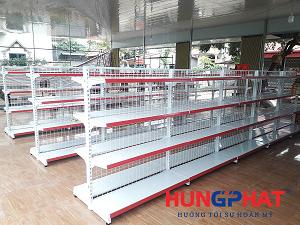 Lắp đặt 25 bộ giá kệ siêu thị tại Cẩm Khê, Phú Thọ