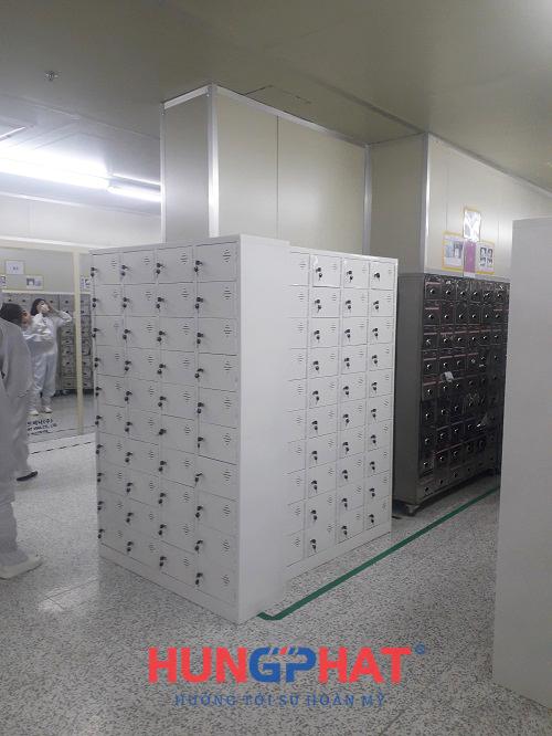 tủ sắt locker 40 ngăn tại công ty Dreamtech KCN Visip, Bắc Ninh 3