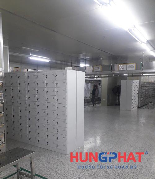 tủ sắt locker 40 ngăn tại công ty Dreamtech KCN Visip, Bắc Ninh 4