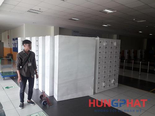 tủ sắt locker 40 ngăn tại công ty Dreamtech KCN Visip, Bắc Ninh 1