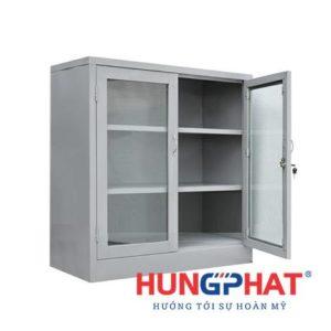 Tủ sắt văn phòng K2 cánh kính thấp