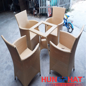 Bàn ghế cafe dianna đan kín