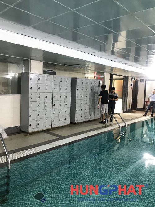 Phân phối 4 tủ locker 18 ngăn tại bể bơi Fafilm tại 19 Nguyễn Trãi 1