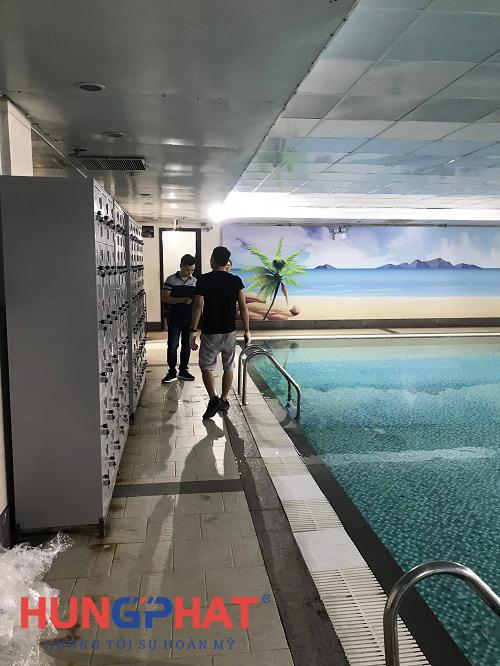 Phân phối 4 tủ locker 18 ngăn tại bể bơi Fafilm tại 19 Nguyễn Trãi 3