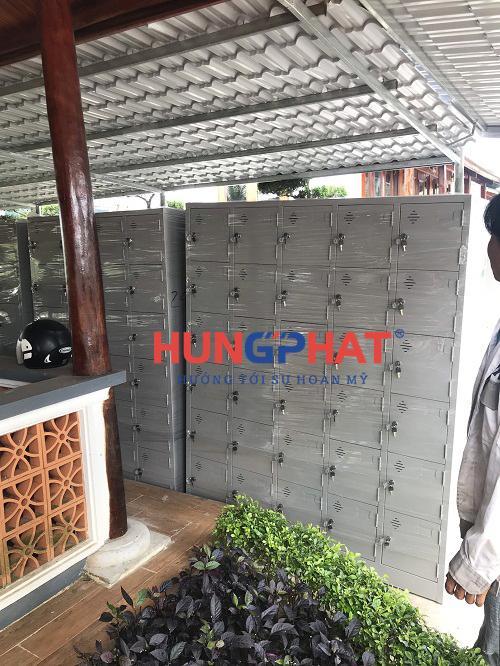 Phân phối tủ locker 30 ngăn và 24 ngăn tại khu sinh thái An Bình 2