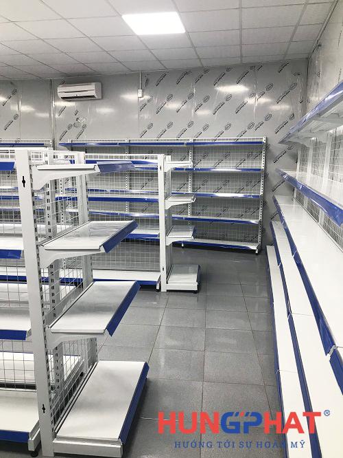 lắp đặt 37 bộ kệ siêu thị tại khoái châu hưng yên 4