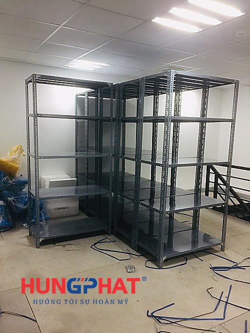 lắp đặt kệ kho D1000 x S500x C2000 x 5 sàn tại Vacxin Thanh Hóa2