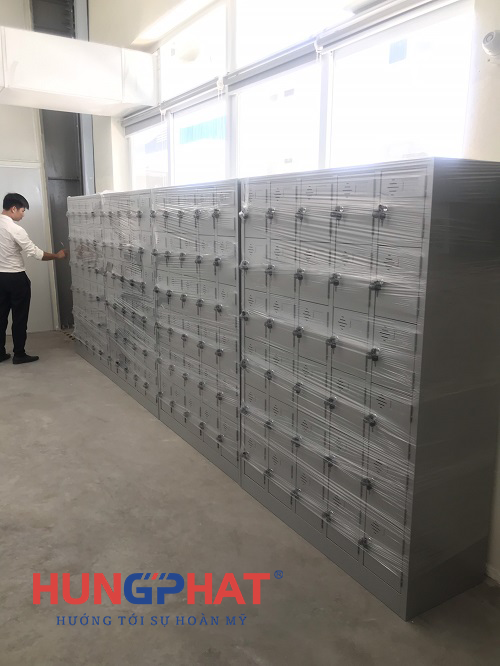 Phân phối 5 tủ locker 30 theo yêu cầu tại công ty May Hồng Thái, Quỳnh Phụ- Thái Bình1