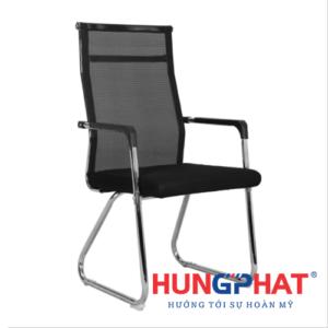 Ghế chân quỳ lưới lưng cao có đệm tay vuông