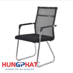 Ghế chân quỳ lưới lưng thấp có đệm tay vuông