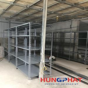 Lắp đặt 13 bộ kệ kho hàng 5 sàn tại Vân Canh, Hoài Đức