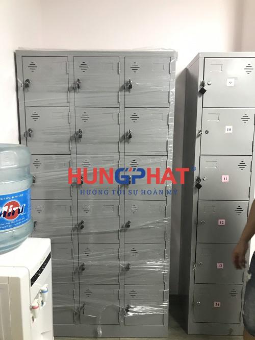 Phân phối 6 tủ locker 18 ngăn tại khu công nghệ cao Hòa Lạc