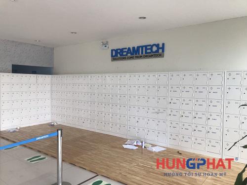 Cung cấp tủ locker 24 ngăn và tủ 36 ngăn tại công ty Dreamtech Bắc Ninh1