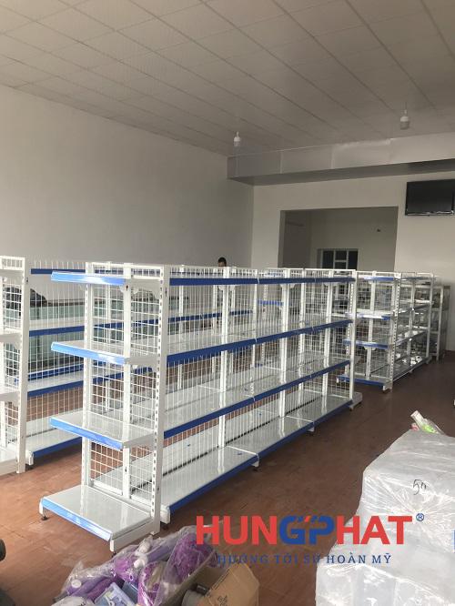 Cung cấp và lắp đặt 23 bộ kệ siêu thị lưới tại Thanh Hà, Hải Dương2