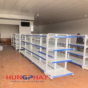 Cung cấp và lắp đặt 23 bộ kệ siêu thị lưới tại Thanh Hà, Hải Dương