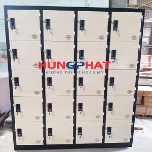 Tủ sắt locker 20 ngăn cung cấp cho khách hàng tại Bắc Ninh