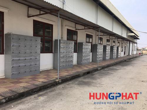 Cung cấp 7 tủ sắt locker 30 ngăn tại công ty may mặc XNK CJ Vina1