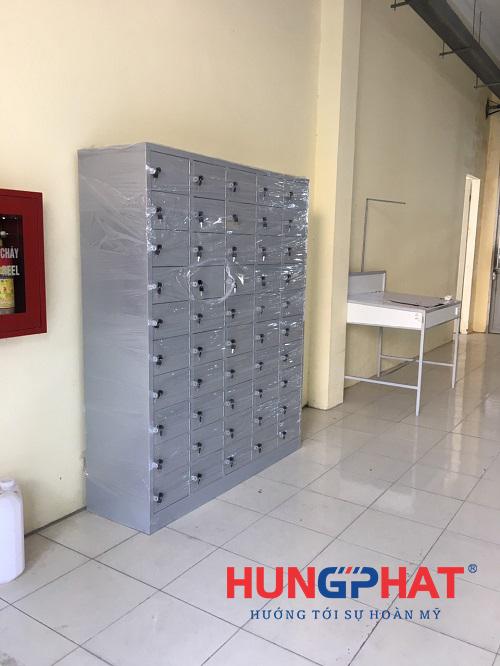 Hoàn thiện đơn hàng tủ sắt locker 50 ngăn tại Hoài Đức, Hà Nội3