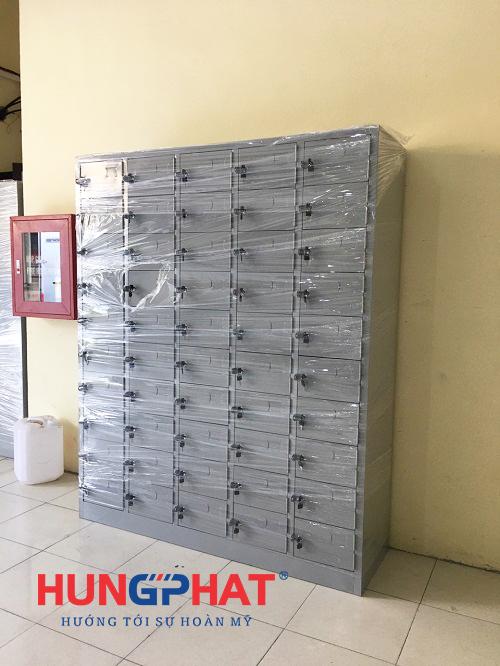 Hoàn thiện đơn hàng tủ sắt locker 50 ngăn tại Hoài Đức, Hà Nội2