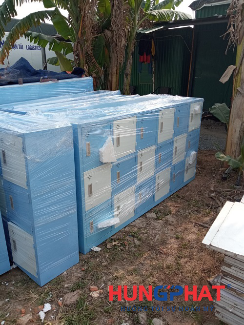 Hoàn thiện đơn hàng tủ mầm non 18 ngăn gửi xe đi Vinh3