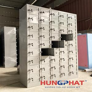 Tủ sắt locker 45 ngăn phân phối tại KCN Hòa Khánh, Đà Nẵng