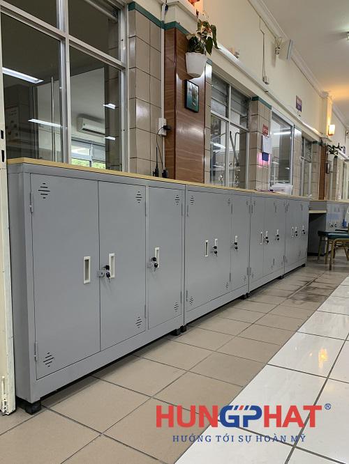 Hoàn thành tủ hồ sơ 3 cánh thấp tại bệnh viện Bạch Mai2