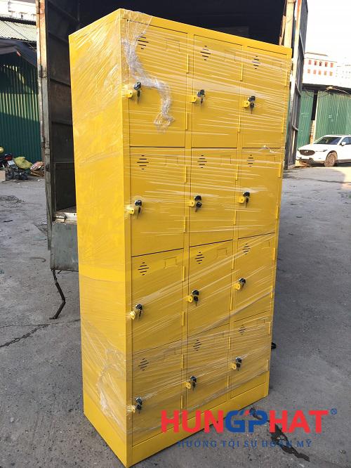Hoàn thiện đơn hàng tủ locker 12 ngăn theo yêu cầu tại Hưng Yên2