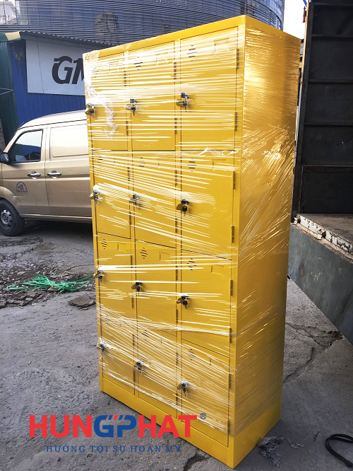 Hoàn thiện đơn hàng tủ locker 12 ngăn theo yêu cầu tại Hưng Yên3