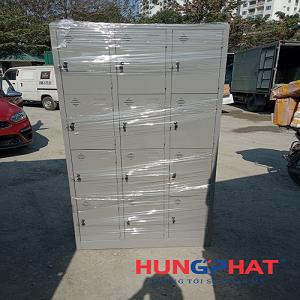 Tủ locker 12 ngăn phân phối tại Công Ty Cổ Phần ôtô Hyundai Hưng Yên