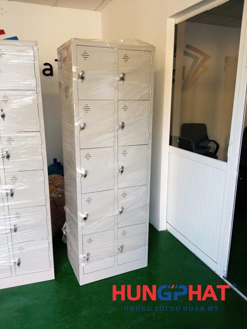 Hoàn thiện đơn hàng tủ locker 30 ngăn và 10 ngăn tại Hưng Yên2