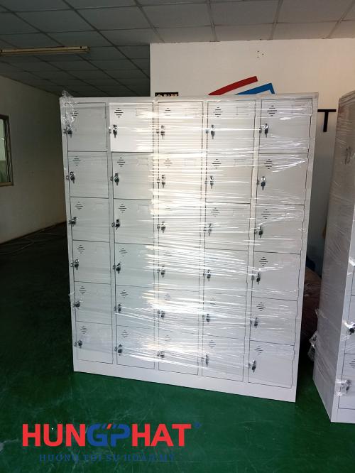 Hoàn thiện đơn hàng tủ locker 30 ngăn và 10 ngăn tại Hưng Yên1