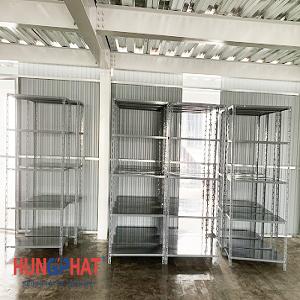 Lắp đặt 20 bộ kệ kho hàng 5 sàn tại KCN Thụy Vân, Phú Thọ