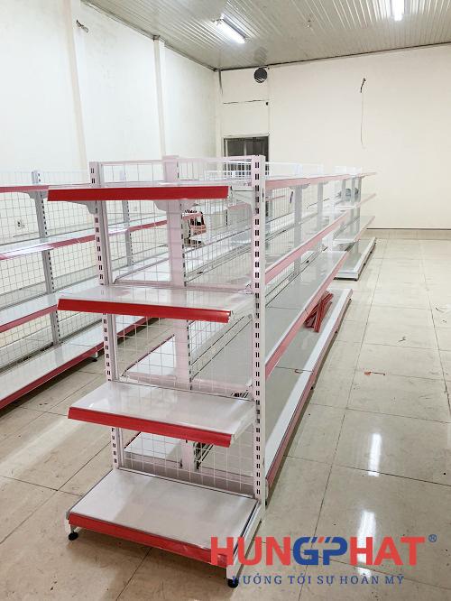 Hoàn thành việc lắp đặt kệ siêu thị lưới 4 sàn tại Thanh Ba, Phú Thọ2