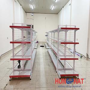 Hoàn thành lắp đặt kệ siêu thị lưới 4 sàn tại Thanh Ba, Phú Thọ
