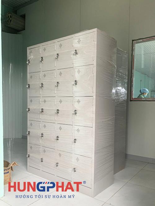 Hoàn thành 5 bộ tủ locker sắt 20 ngăn tại Hà Hòa, Phú Thọ1