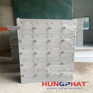 Hoàn thành 5 bộ tủ locker sắt 20 ngăn tại Hà Hòa, Phú Thọ
