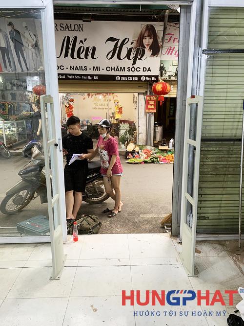 Cổng từ EAS2028 lắp đặt cho khách hàng tại Tiên Du, Bắc Ninh2