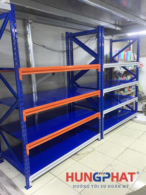 Lắp đặt kệ trung tải 4 tầng cho khách hàng tại Vạn Phúc, Hà Đông1