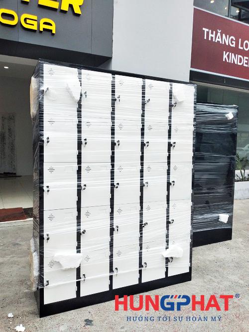Cung cấp tủ locker 25 ngăn cho phòng tập gym tại Ba Đình3